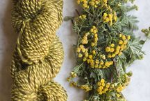 Natural Yarn Dyeing / How to dye yarn with plants easily at home
