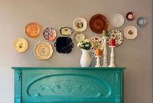 HOME: PLATE WALLS / Plates hung in delicious ways