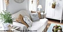 Cozy Family Room / Inspiration for a casual, inviting family room