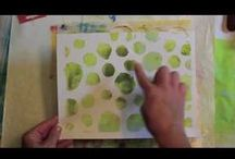 Tutorials to watch on the treadmill / Gelli Printing and more: videos to keep us entertained, educated and ingterested while we exercise / by Kelly Savino