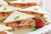 Teatime Treats / Pretty and delicious foods to enjoy while sipping tea.