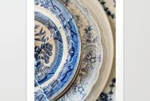 Redwork, Toile and Transferware / Quilts and dishes with timeless elegance.