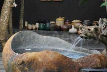 Bath- Outdoor, Indoor / Outdoor & indoor - Bath ideas / by Hope Gibson