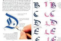 caligraphy alphabet