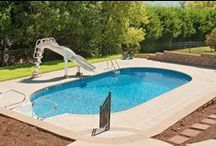 Vinyl Swimming Pools / After your new vinyl pool is installed, The Great Backyard Place has all of the tools, chemicals and services you need to keep it sparkling during the summer and throughout the year. Be sure to ask about our pool cleaning and maintenance services!