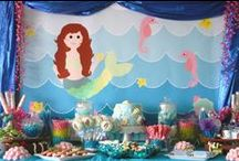 Under The Sea & Mermaids Birthday Party Ideas / All things for an under the sea / mermaid birthday party #undertheseaparty #undertheseabirthdayparty #undertheseabirthday #mermaidparty #mermaidbirthday #mermaidbirthdayparty / by I Will Invitations