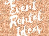 Special Event Rental Ideas / This Board Features Pictures with Similar or Exact Rental Products Available for Local Sacramento, Ca Area Events @ americaspartyrental.com