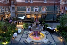St. James' Courtyard / One of London's most idyllic outdoor dining spaces, this award-winning secluded hidden gem is perfect for afternoon teas, grills, seasonal platters and cocktails with a twist. St. James' courtyard is surrounded by a unique turn-of-the-century red brick frieze, depicting scenes from Shakespeare's Sylvan plays, overlooking a cherub-ordained Victorian fountain.