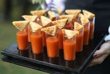Food, Glorious Food / Yummy food inspiration for your wedding day! Great ideas for appetizers on the day!