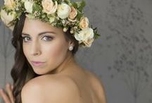 Floral Crowns / Sweet floral crowns worn by beautiful brides