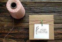 Finding EASY Gift Wrapping Ideas! / Easy and pretty gift wrap ideas - including gift tags!