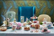 Alice's Adventures themed Afternoon Tea Party in Wonderland / FOLLOW ALICE DOWN THE RABBIT HOLE AND GET LOST IN A WHIMSICAL WORLD. The Afternoon Tea in Wonderland has been expertly crafed by Pastry Chef Nikhil Vyas. The eclectic menu of cakes and pastries is inspired by characters and quirks from Alice's Adventures in Wonderland