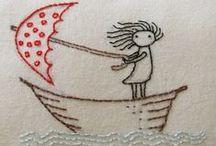embroidery / bordados / by Beth Salgueiro