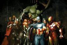 The Avengers / Iron Man, Captain America, Hawkeye, Hulk, Thor, Black Widow, Shield Nick Fury, Shield Maria Hill & Loki / by Heather Mills