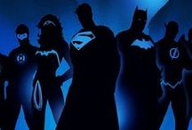Justice League / Superman, Batman, Wonder Woman, Flash, Green Lantern, Aquaman, Hawkman, Martian Manhunter, Cyborg, Green Arrow  / by Heather Mills