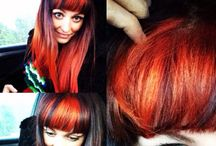 Ideas for dip dyed hair / Want to dip dye my ombré blonde hair with manic panic