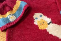 Customer creations / Knitted items made by customers of Northampton Wools