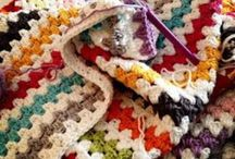 Fiber Arts - Blankets & Borders / Crochet and knit blankets. Whole and squares (modular). Inspiration and color schemes, too.  / by Marcy Morgan