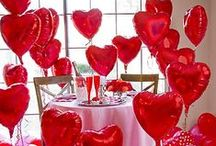 Valentine's Balloon Decor / Love is in the air... definitely when you surprise your spouse with one of these beautiful Valentine themed balloon decorations.