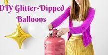 Balloon Decor Step-by-Step / Step-by-step instructions, video and image tutorial for all kinds of balloon decorations: arches, columns, bouquets, centerpieces, double bubbles, glitter filled balloons, lollipops, tulle covered balloons, and more.