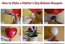 """Mother's Day Balloon Decorations / Use balloons to deliver your """"I love you Mom"""" message on Mother's Day."""