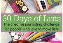 30 Days of Lists project / Journaling, memory keeping, Listing