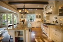My Sanctuary (dream kitchen) / One day I will have my fabulous dream kitchen..,until then I will just dream and pin away! / by Kate Doty