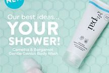 Gentle Genius  / Formulated specifically for sensitive skin, our new Gentle Genius Body Wash delivers a shower experience that respects very sensitive skin that's prone to dryness, Eczema, Psoriasis and Dermatitis.  This Body Wash is inspired by our best-selling Camellia & Rose Gentle Cleanser!   KONJAC + SLS-FREE WASH = GENTLE GENIUS
