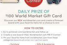 WorldMarket.com PIN IT Contest / by Mary Weise