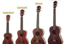 Types of ukes / Pictures illustrating different types and sizes of ukulele