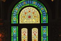 stained/leaded glass / There is nothing like light shimmering through colored glass / by Tracy Chunat