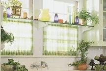 Curtains, window treatments