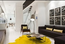 yellow and grey - living room