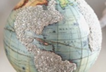 maps & glitter...glitter & maps / by Laura Loffredo Leubner