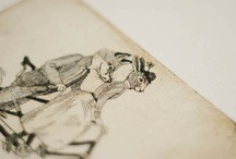 desenhos (caderno) / by Marina Moraes