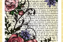 French Rose Background Stamp