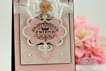 Elegant Corners Labels Four Background Cling Stamp