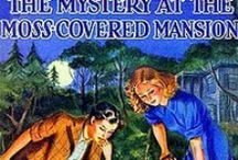 NancyDrew The MOSS COVERED MANSION / Presently through the trees could be seen a picturesque old mansion, its stone walls covered almost solidly with green moss and ivy.  There was not a sound save the soft whispering of the pine needles overhead.... / by Jan