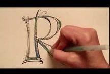 lettering/ font