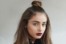 Mini top knot / Half up top knot styles