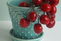 COTTAGE CHARM in Aqua & RED / by Jan