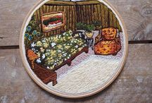 Usedthreads 60's & 70's embroidered interiors / My work
