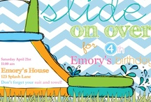 Pool Party / Birthday Boy Party Invites, Pool Party, Pool Party Insipiration, Birthday Party Invites, Boy Party Invites, Water Slide Invitations, Party Decor, Custom Party Decor