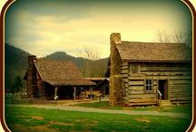 Log Homes / Rugged homes that can stand for generations! / by Lu Ann