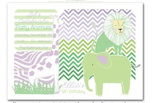 Zoo Birthday Party / zoo birthday party, zoo party, zoo party invites, zoo, animal party invites, party invitations, lion party invites, elephant party invites, party box design, party favor stickers, water bottle labels
