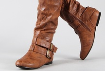 These Boots Were Made for Walking / This is a collection of boots that range from ankle boots to thigh-high boots. Some are definitely comfortable and made of walking but some of these boots I'd have to say definitely NOT!! lol / by Stephanie Lackey