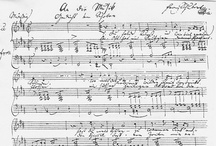 """Composer Manuscripts (and memorabilia) / A selection of items associated with composers, including sheet music """"autograph"""" manuscripts (generally hand-written by the composers themselves though sometimes transcribed or annotated by others), letters, signatures and other memorabilia associated with composers. These documents are of great historical importance and are mostly held in museums or collections."""