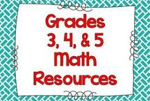 MATH - Third, Fourth, & Fifth Grade / A board for math resources for 3rd, 4th, and 5th grades. Resources may be aligned to common core standards, but are generally & simply good ideas and resources for math instruction. (This board is no longer open for new contributors. Thanks for your understanding.)