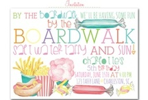 Boardwalk Birthday Party / boardwalk, summer party, jersey shore, beach, boardwalk party invites, boardwalk party decor, beach party invites, summer party invitations, girl birthday party invites, water bottle labels, drink wraps, Party Box Design