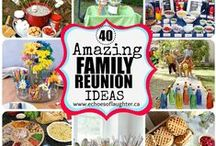 Family Reunion Great Ideas / Summer is family reunion season!  Here are some great ideas to make your family reunion a success for all ages.